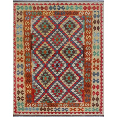 One-of-a-Kind Priston Hand-Woven Wool Gold/Brown Area Rug