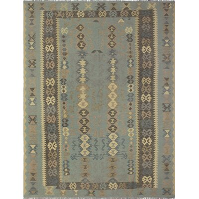 One-of-a-Kind Priston Hand-Woven Wool Blue/Gray Area Rug