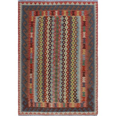 One-of-a-Kind Priston Hand-Woven Wool Brown/Blue Area Rug