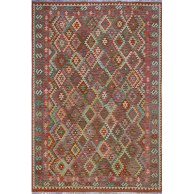 One-of-a-Kind Priston Hand-Woven Wool Rust Area Rug