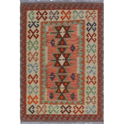 One-of-a-Kind Priston Hand-Woven Wool Gold/Rust Area Rug