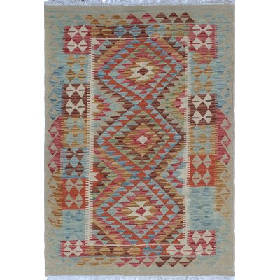 One-of-a-Kind Priston Hand-Woven Wool Beige Area Rug