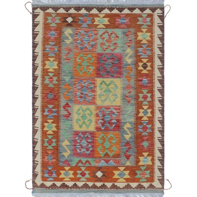 One-of-a-Kind Priston Hand-Woven Wool Brown/Beige Area Rug