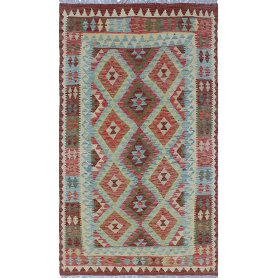One-of-a-Kind Priston Hand-Woven Wool Burgundy Area Rug
