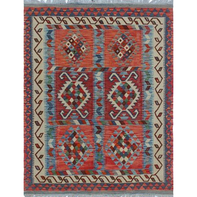 One-of-a-Kind Priston Hand-Woven Wool Beige/Rust Area Rug