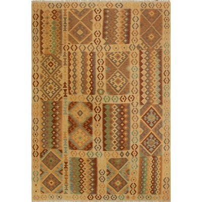 One-of-a-Kind Priston Hand-Woven Wool Gold Area Rug