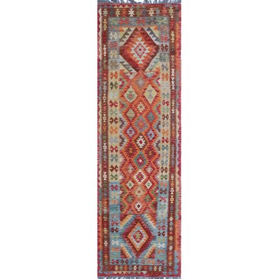 One-of-a-Kind Priston Hand-Woven Wool Orange/Red Area Rug