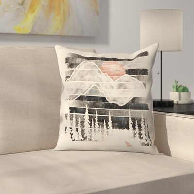 Mountain Lion at Midnight Throw Pillow Size: 16 x 16