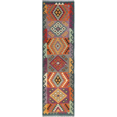 One-of-a-Kind Priston Hand-Woven Wool Green/Brown Area Rug