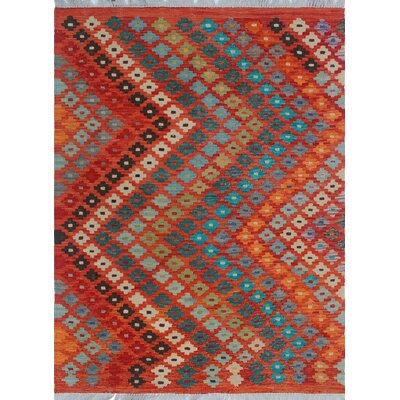 One-of-a-Kind Priston Hand-Woven Wool Orange Area Rug
