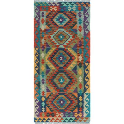 One-of-a-Kind Priston Hand-Woven Wool Blue Area Rug