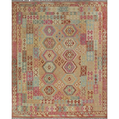 One-of-a-Kind Priston Hand-Woven Wool Rust/Beige Area Rug