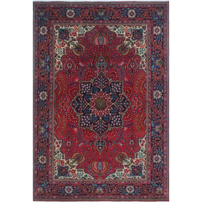 One-of-a-Kind Kappel Distressed Hand-Knotted Wool Red Area Rug