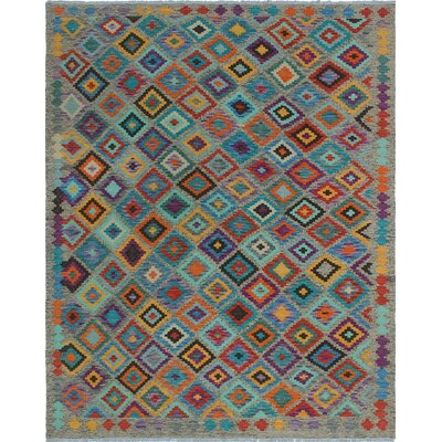 One-of-a-Kind Priston Hand-Woven Wool Brown/Teal Area Rug