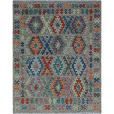 One-of-a-Kind Priston Hand-Woven Wool Gray Area Rug