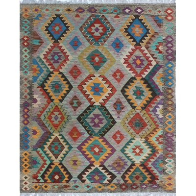 One-of-a-Kind Priston Hand-Woven Wool Gray/Brown Area Rug