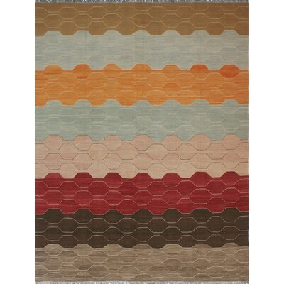 One-of-a-Kind Hendry Hand-Woven Wool Brown/Beige Area Rug