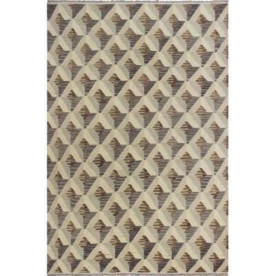 One-of-a-Kind Pender Hand-Woven Wool Beige Area Rug