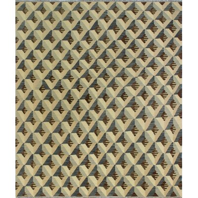 One-of-a-Kind Pendergast Hand-Woven Wool Beige/Brown Area Rug
