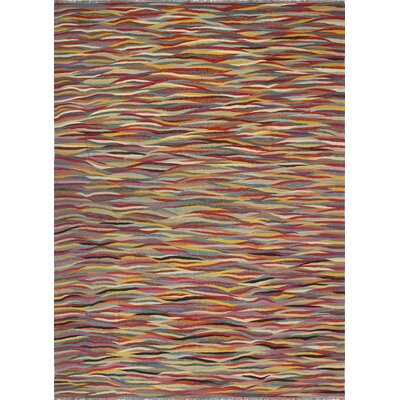 One-of-a-Kind Kwiatkowski Hand-Woven Wool Red Area Rug