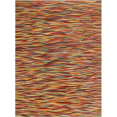 One-of-a-Kind Kwiatkowski Hand-Woven Wool Red Area Rug