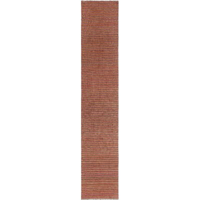 One-of-a-Kind Priston Hand-Woven Wool Pink Area Rug