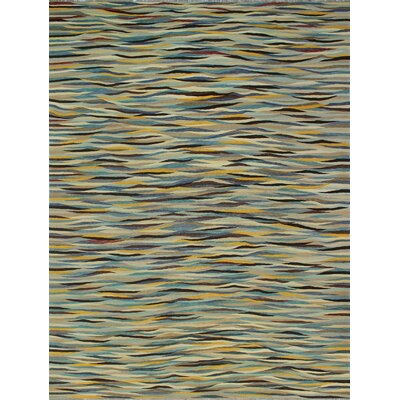 One-of-a-Kind Kwiatkowski Hand-Woven Wool Beige/Blue Area Rug