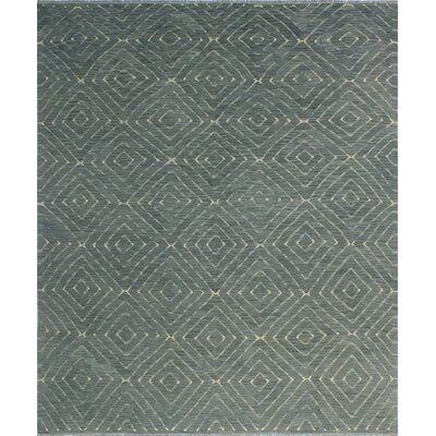 One-of-a-Kind Coleg Hand-Woven Wool Gray Area Rug