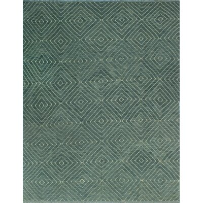 One-of-a-Kind Coleg Hand-Woven Wool Teal Blue Area Rug