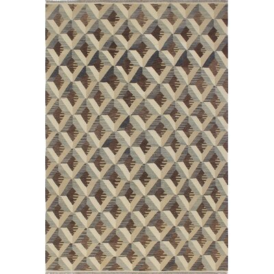 One-of-a-Kind Pender Hand-Woven Wool Brown/Beige Area Rug