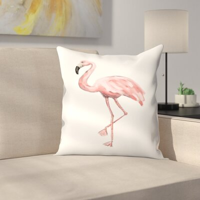 Jetty Printables Flamingo Throw Pillow Size: 18 x 18