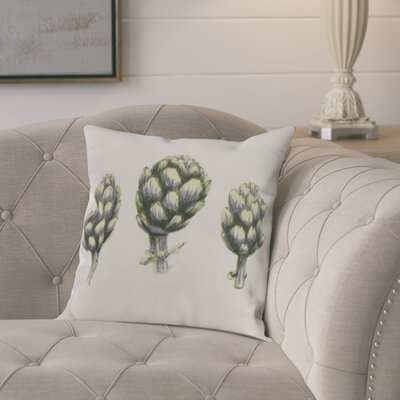 Laymon Throw Pillow Color: Green, Size: 18 x 18