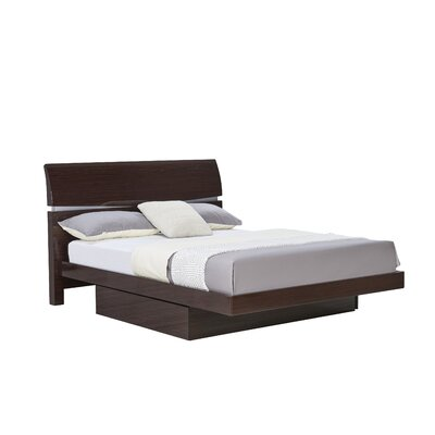 Sanmiguel Storage Panel Bed Size: Full, Color: Cappuccino
