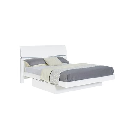 Sanmiguel Storage Panel Bed Size: Queen, Color: White