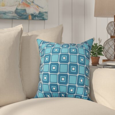 Cedarville Square Geometric Print Throw Pillow Size: 26 H x 26 W, Color: Teal