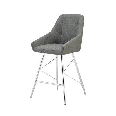 Sanroman Bar Stool (Set of 2) Upholstery: Gray