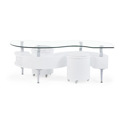 Peart Coffee Table Color: White