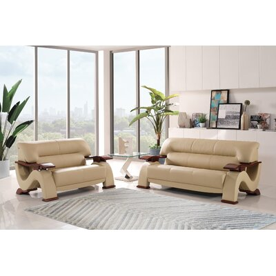 Pecor Wood Arm Configurable Living Room Set