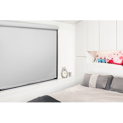 Free Stop Cordless Room Darkening Roller Shade Blind Size: 33W x 72L, Color: Silver
