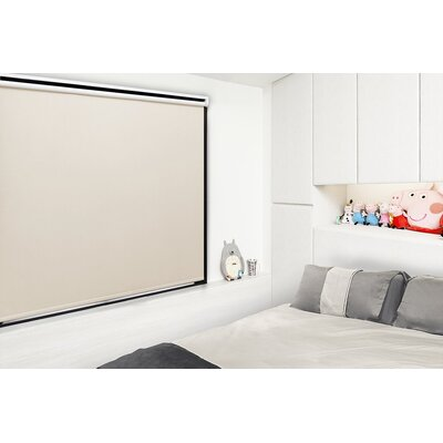Motorized Room Darkening Roller Shade Blind Size: 46W x 72L, Color: Champagne