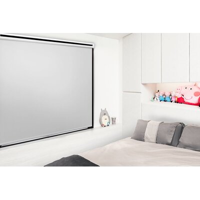 Motorized Room Darkening Roller Shade Blind Size: 35W x 72L, Color: Silver