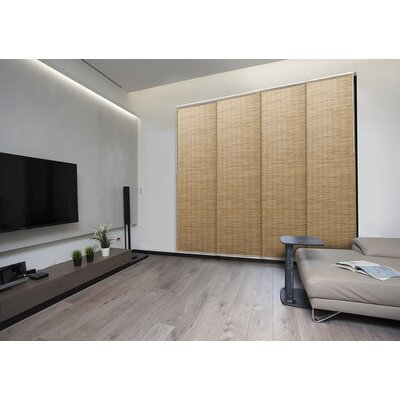 Deluxe Adjustable Sliding Room Darkening Pecan Vertical Blind