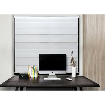 Motorized Semi-Sheer Roller Shade Blind Size: 35W x 72L