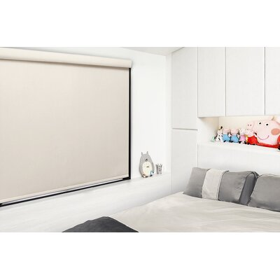 Free Stop Cordless Room Darkening Roller Shade Blind Size: 23W x 72L, Color: Champagne