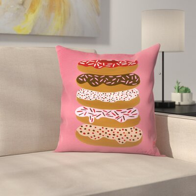 Cat Coquillette Stacked Donuts Throw Pillow Size: 18 x 18