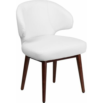 Mccrea Curved Back Leather Guest Chair Seat Color: White