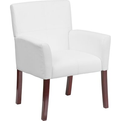 Dunson Leather Executive Guest Chair Seat Color: White