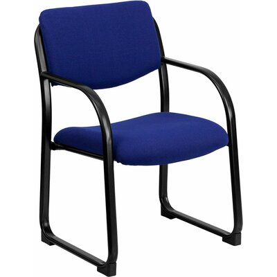 Kruger Executive Guest Chair Seat Color: Navy