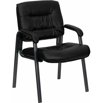 Kruger Leather Executive Guest Chair Seat Color: Titanium