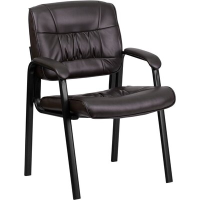 Kruger Leather Executive Guest Chair Seat Color: Brown